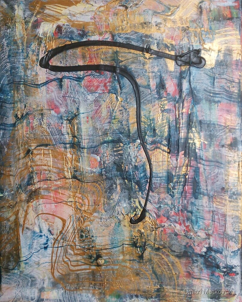 Exclamation of Admiration, original Abstract painting by Dmitri Matkovsky
