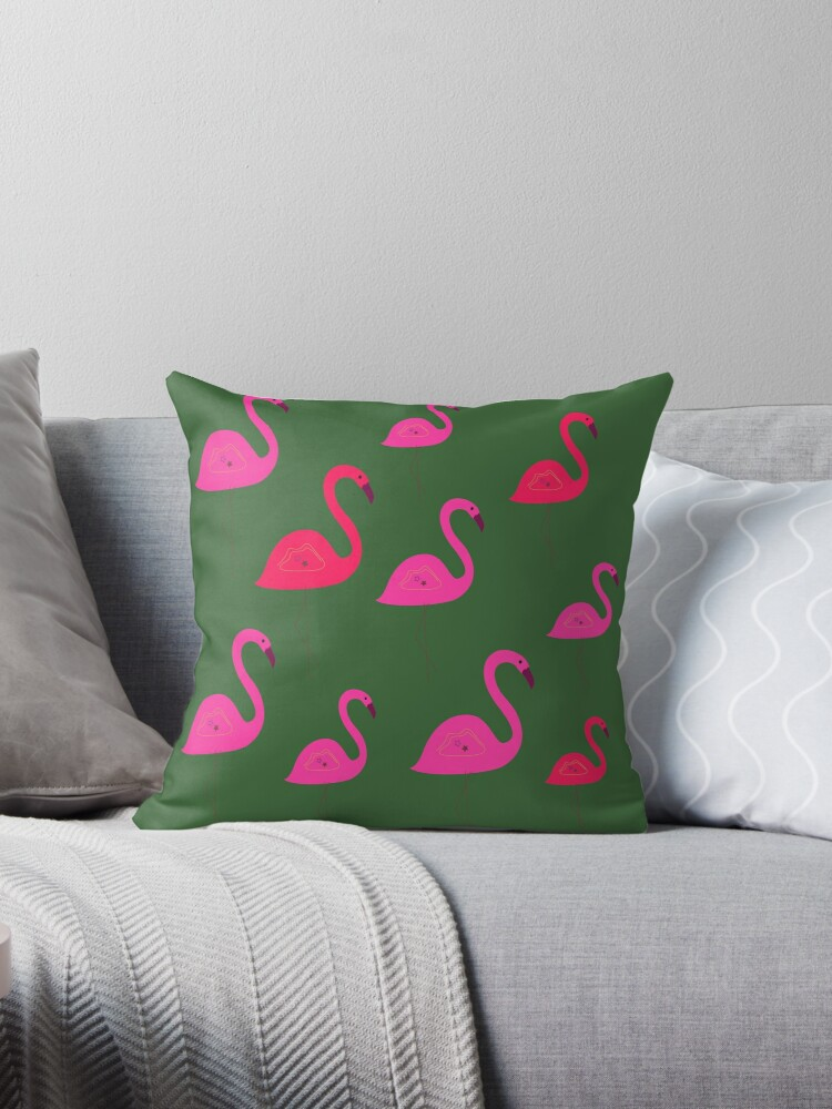 Design  flamingos pink eco g. by Bee and Glow Illustrations Shop