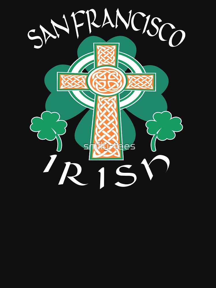 San Francisco American Irish Celtic Cross Saint Patrick by smily-tees