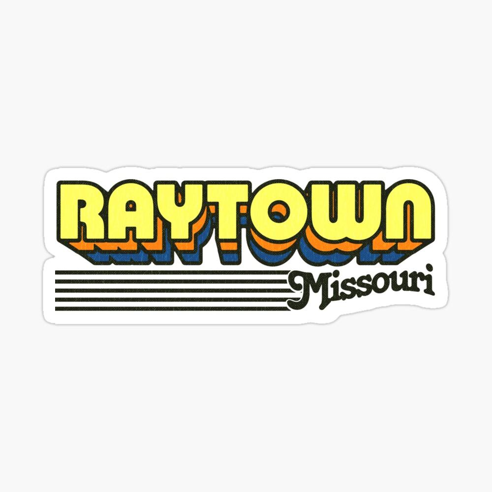 Raytown, Missouri | Retro Stripes Sticker