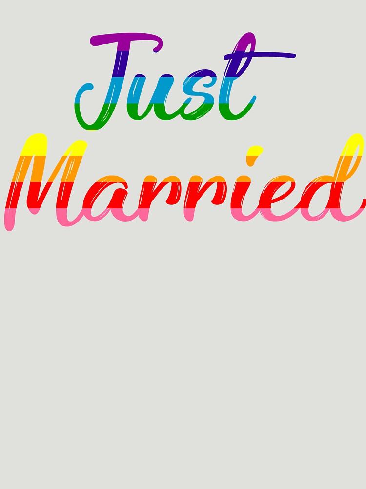 Just Married Gay Pride by TrendJunky