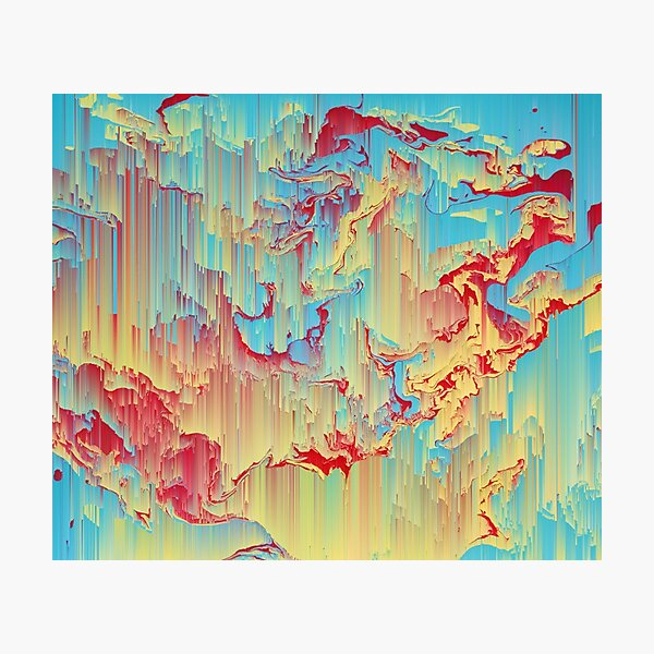 Vivid Storm - An Abstract Glitch Piece Photographic Print