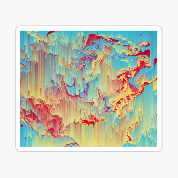 Vivid Storm - An Abstract Glitch Piece Sticker