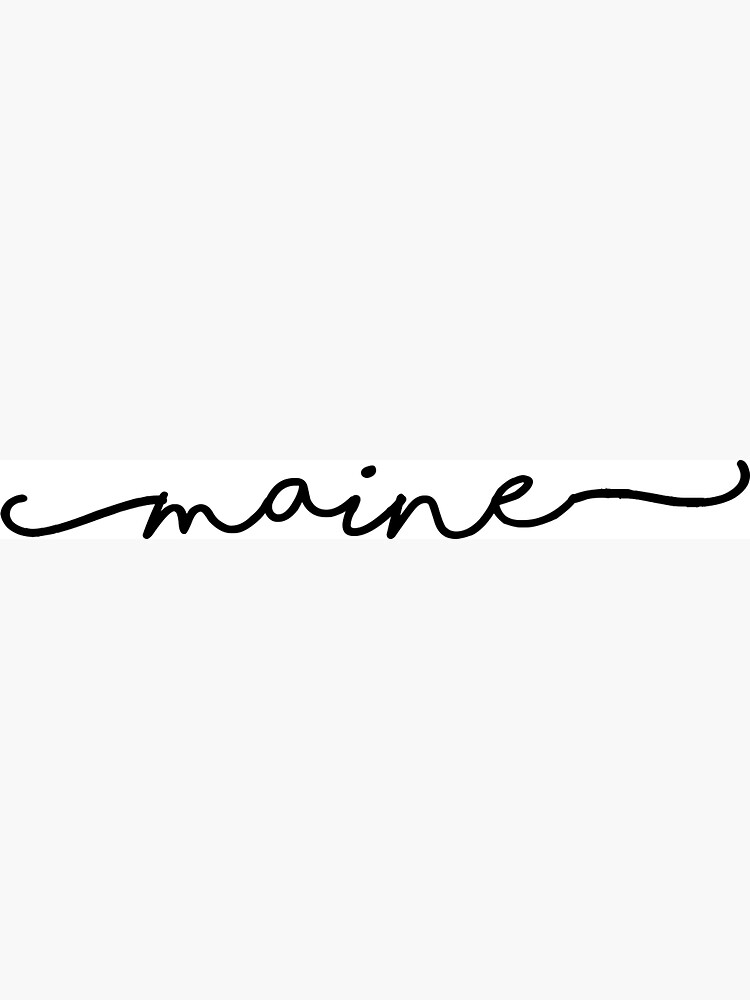 Maine Script by livpaigedesigns