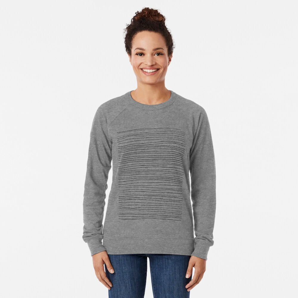 Geometric pattern black and white lines Lightweight Sweatshirt