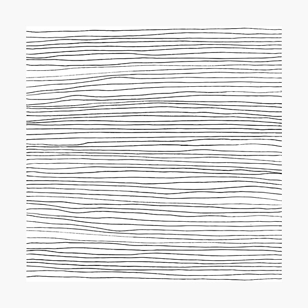 Geometric pattern black and white lines Photographic Print