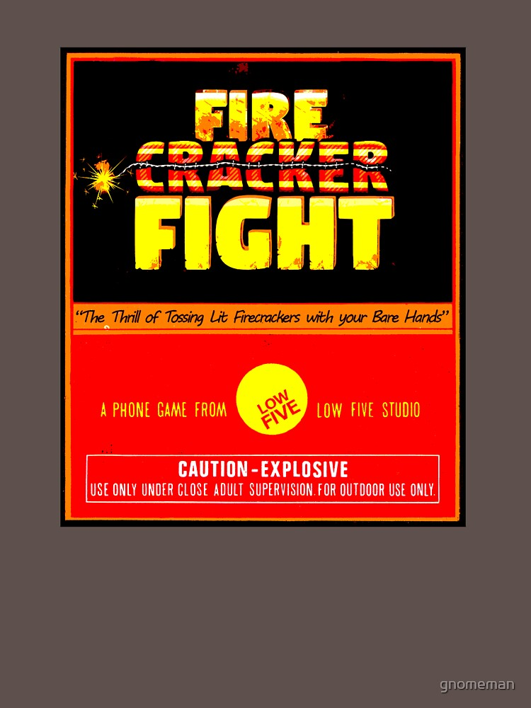 Official Firecracker Fight game big label by gnomeman