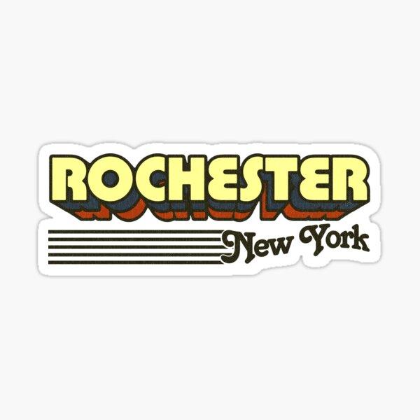 Rochester, New York | Retro Stripes Sticker