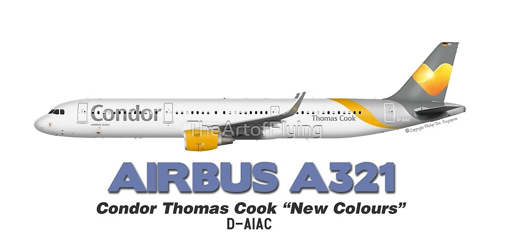 "Airbus A321 - Condor Thomas Cook ""New Colours"" by TheArtofFlying"