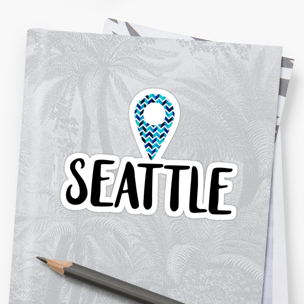 "Seattle ""Location Pin"" Design by itsmebecca"
