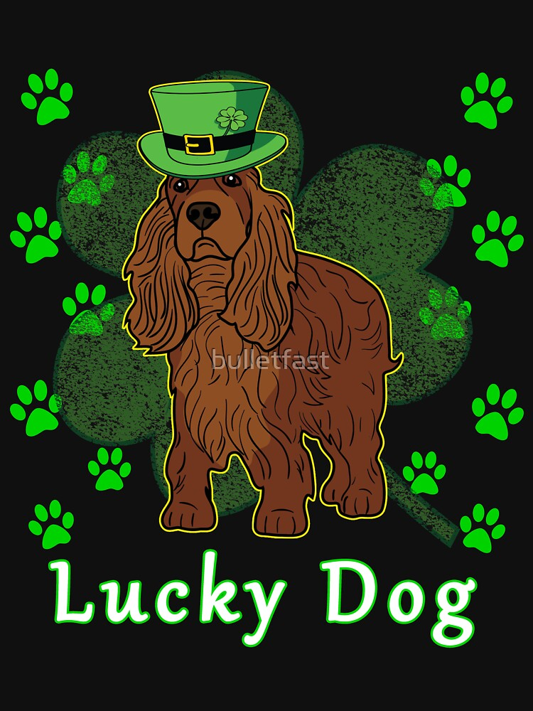 St Patricks Day Dog St Paddy Day Shamrock Paw Cocker Spaniel St Patrick Day by bulletfast