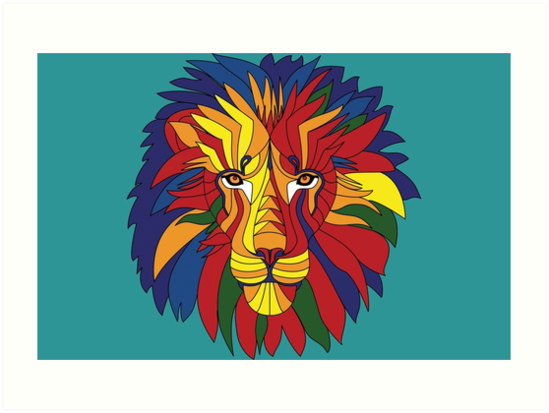 Colourful Lion by Monika Avakian