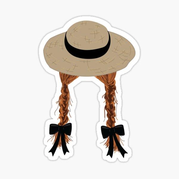 Anne Shirley's Braids Sticker