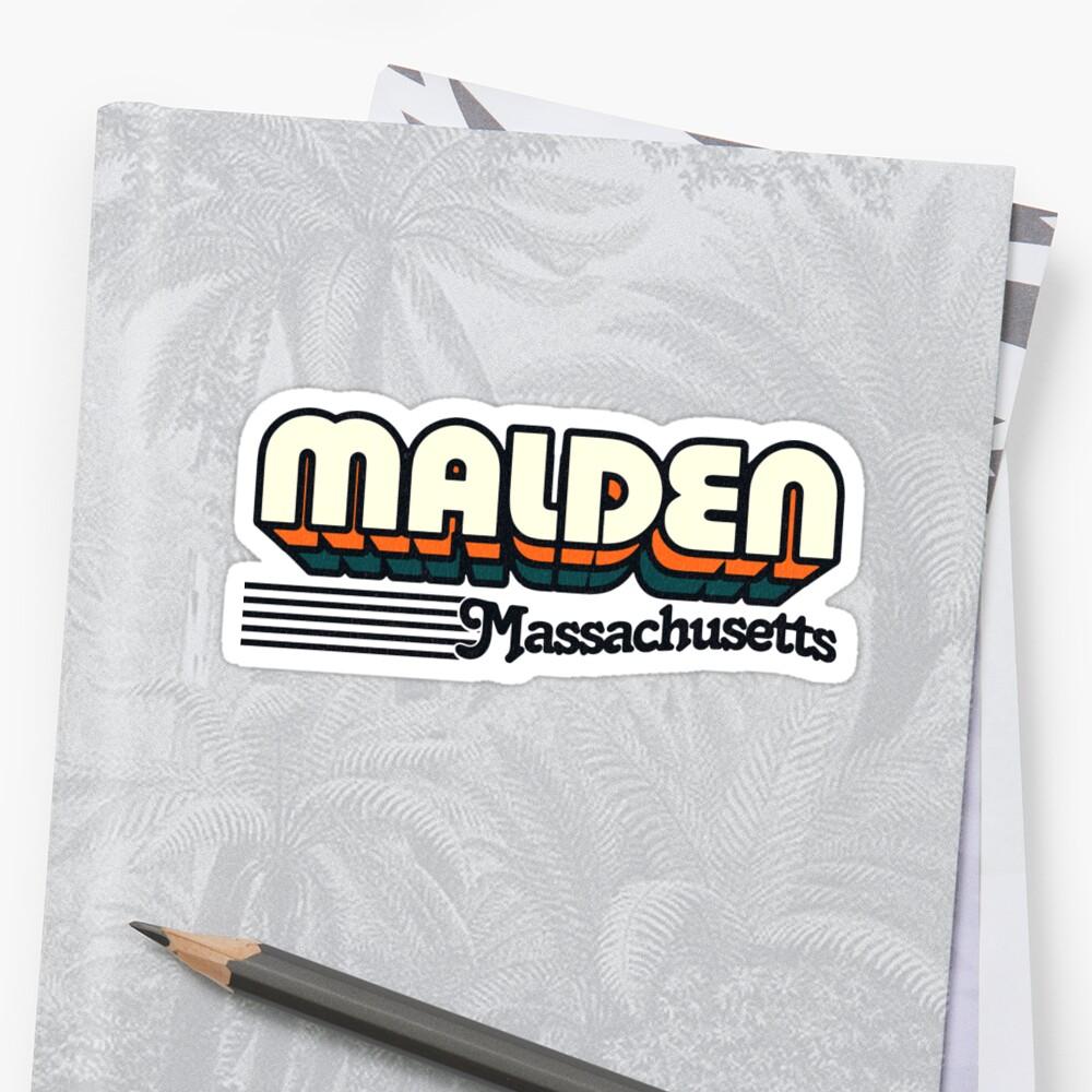 Malden, Massachusetts   Retro Stripes by retroready