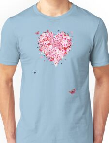 Floral heart for you Unisex T-Shirt