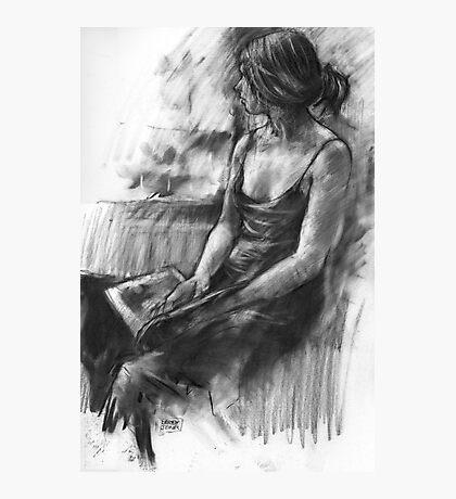Girl reading Photographic Print