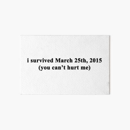Sobreviví en marzo de 2015 Lámina rígida