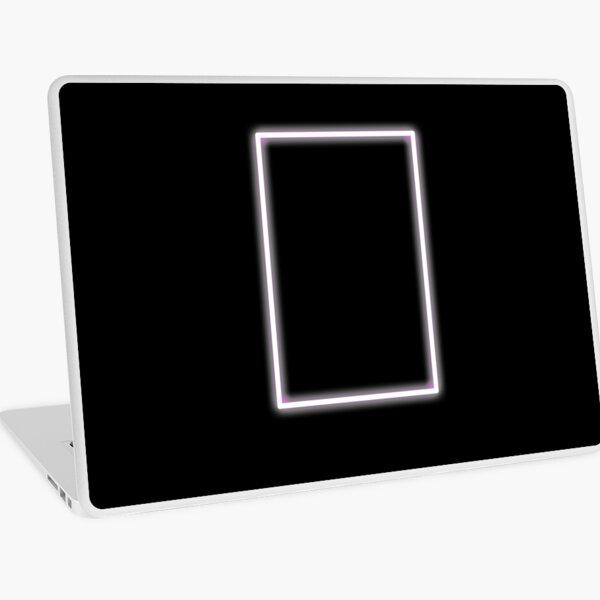 Pink Glowing Neon Rectangle Laptop Skin