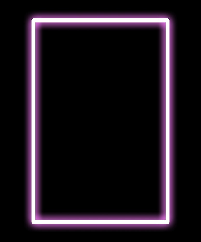 Pink Glowing Neon Rectangle by Terry Bain