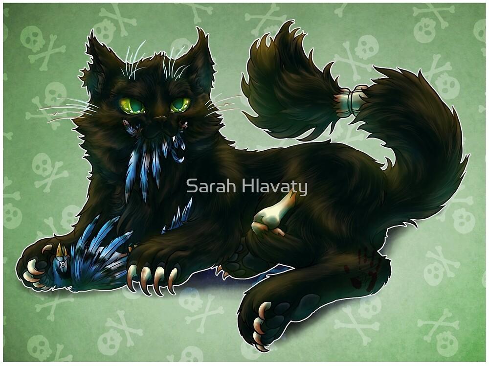 RIP Jinx Black Zombie Cat by Sarah Hlavaty