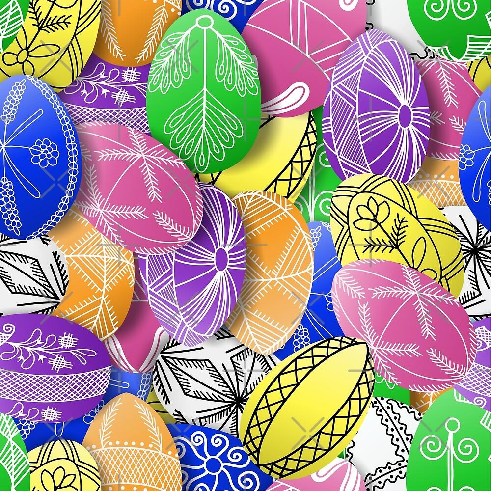 polish easter egg allover print pisanki by B0red