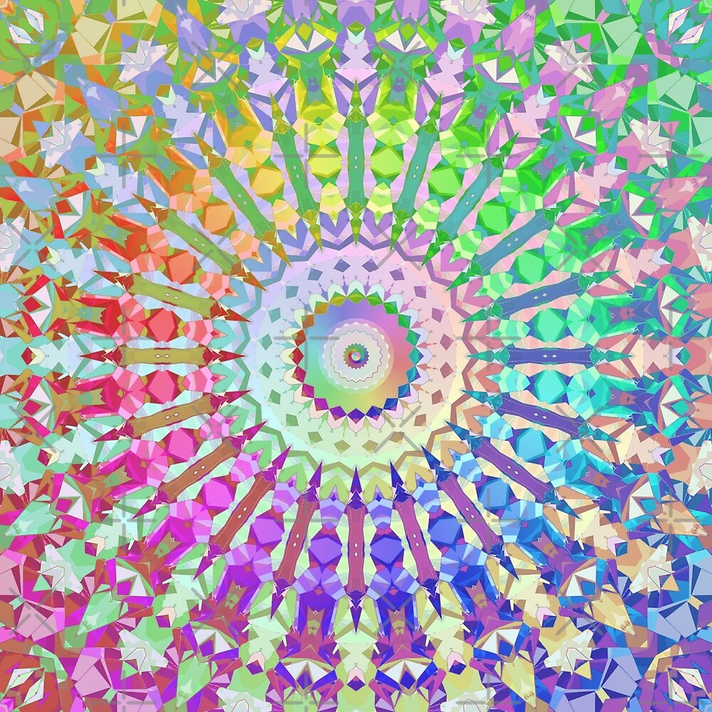 Rainbow Kaleidoscope by KaleiopeStudio