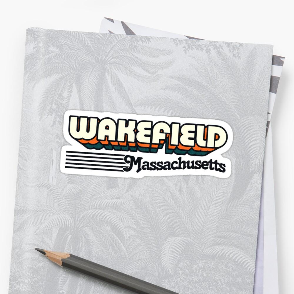 Wakefield, Massachusetts | Retro Stripes by retroready