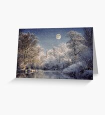 Silver Forest Greeting Card