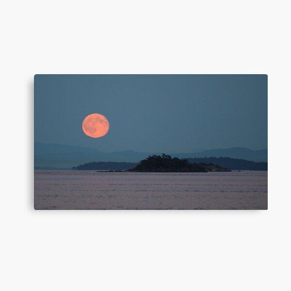 Mayne Island Blue Moon rise  Canvas Print