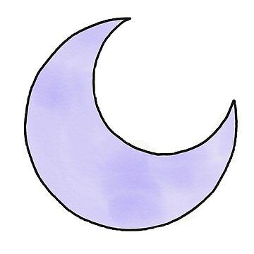 Purple Moon  by elfiesdesigns
