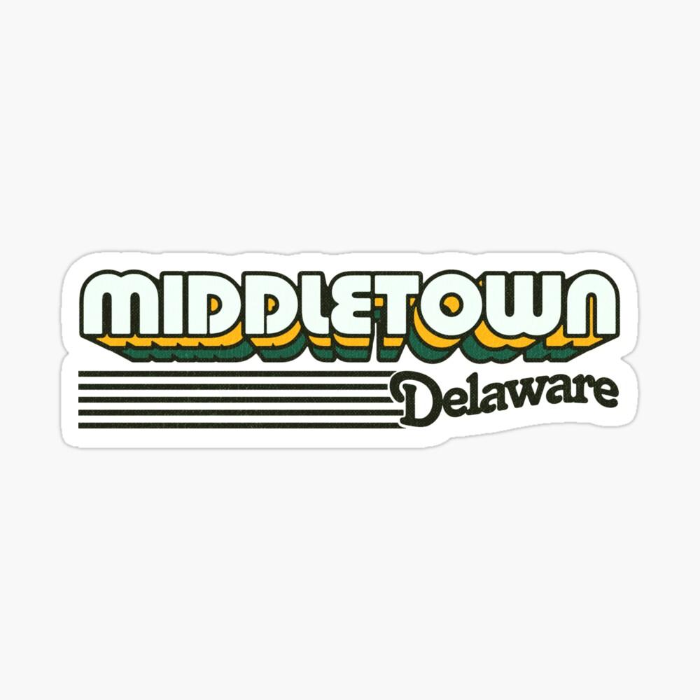 Middletown, Delaware | Retro Stripes Sticker