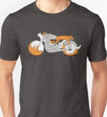 Funny Biker Cat Cafe Racer Motorcycle Kitten T-Shirt Unisex T-Shirt