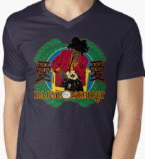 Jean-Michel Basquiat T-Shirt mit V-Ausschnitt
