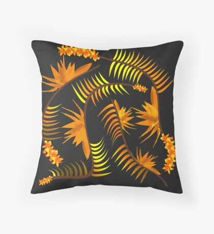 Pure Golds Flow Throw Pillow