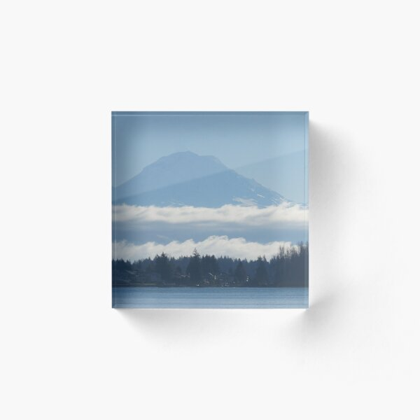The mountain in a fluffy skirt Acrylic Block