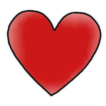 Red Heart Print by elfiesdesigns