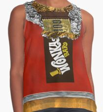 Wonka Chocolate Bar with Golden ticket Contrast Tank