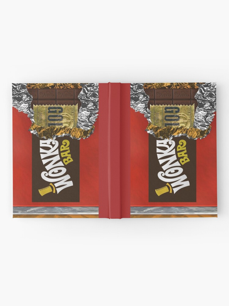 Alternate view of Wonka Chocolate Bar with Golden ticket Hardcover Journal