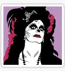 Jinkx Monsoon Day of the Dead Pop Art Illustration Sticker