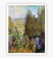 Corner of the Garden at Montgeron-Claude Monet Sticker