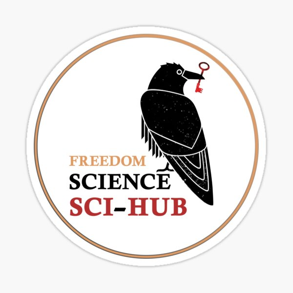 """SCI-HUB: for the freedom of science"""" Sticker by NeuronQ 