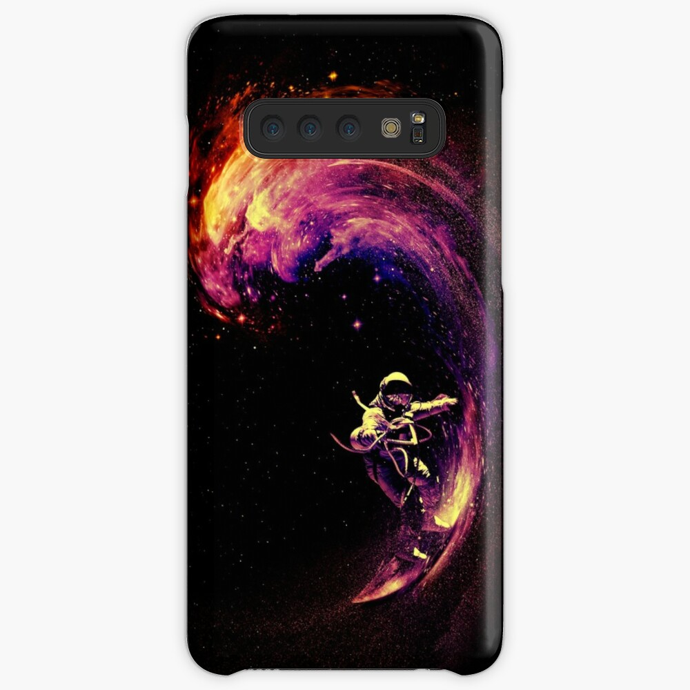 Surfen im Weltraum Hülle & Klebefolie für Samsung Galaxy