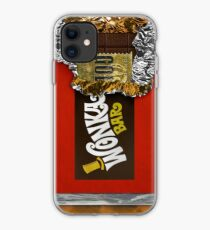 Wonka Chocolate Bar with Golden ticket iPhone Case