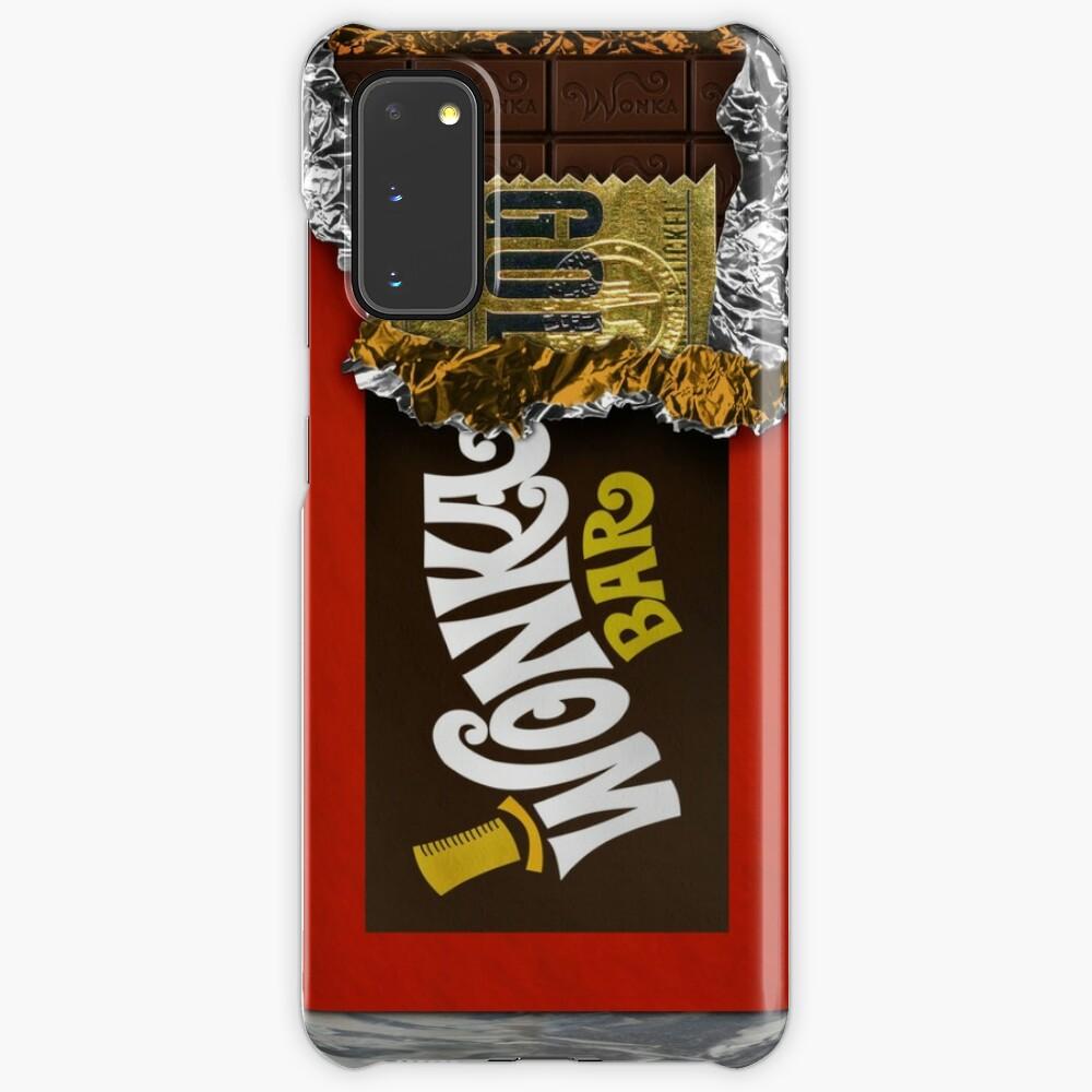 Wonka Chocolate Bar with Golden ticket Case & Skin for Samsung Galaxy