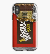 Wonka Chocolate Bar mit goldenem Ticket iPhone-Hülle & Cover