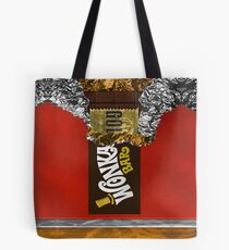 Wonka Chocolate Bar with Golden ticket Tote Bag