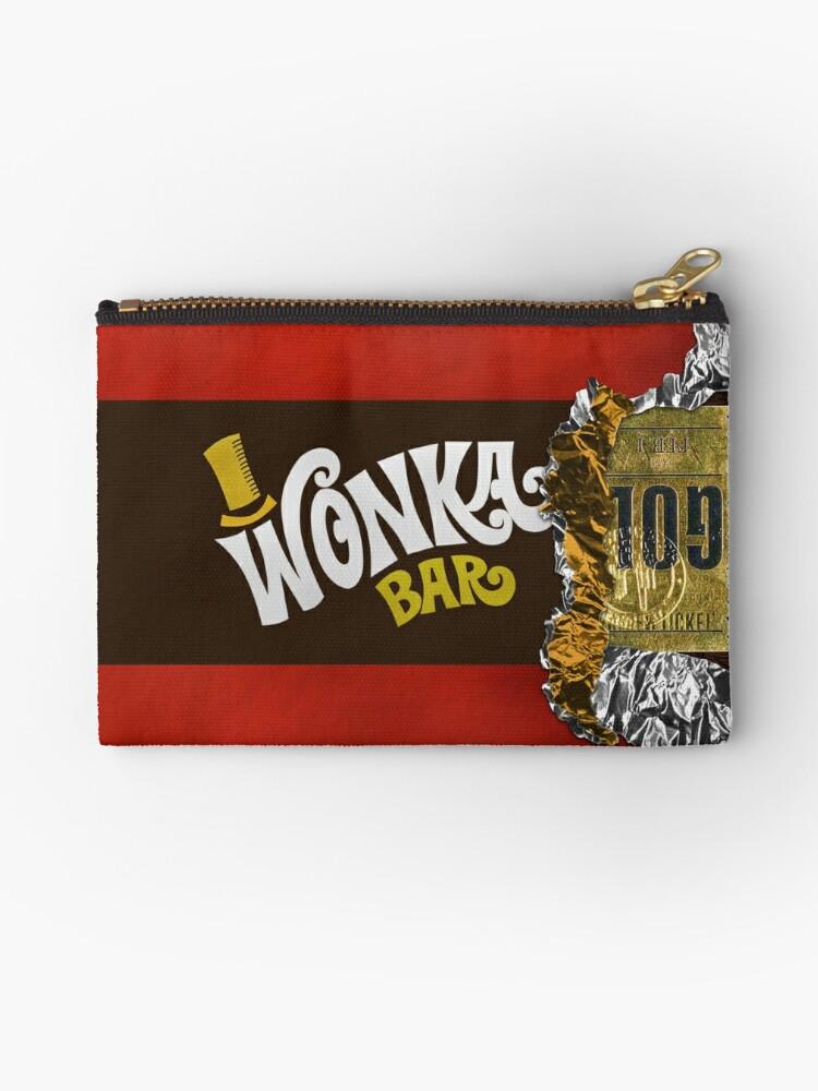 Wonka Chocolate Bar With Golden Ticket Zipper Pouch By Galih Sanjaya Kusuma Wiwaha