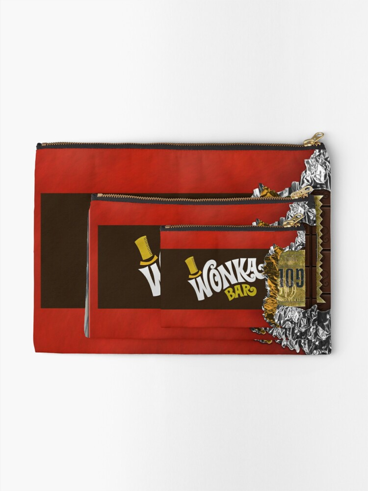 Alternate view of Wonka Chocolate Bar with Golden ticket Zipper Pouch