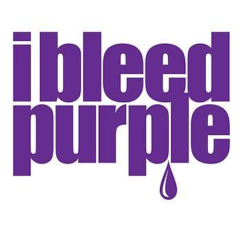 I Bleed Purple 1-Color by Printsfan