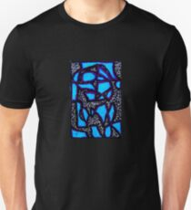 Fractured Blue and Violet  Unisex T-Shirt